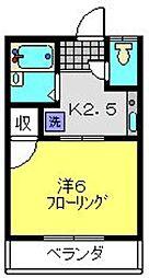 グリーンコーポ斉藤[201号室]の間取り