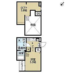 セイント稲毛Duo(セイント イナゲ デュオ)[1階]の間取り