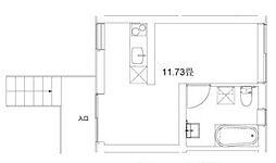 東急田園都市線 用賀駅 徒歩4分の賃貸マンション 1階ワンルームの間取り