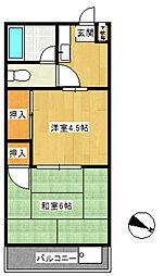 トーコーマンション[3階]の間取り