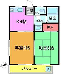 フラット三井[2階]の間取り