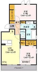 Casa Bonita 3階2LDKの間取り