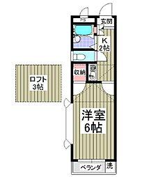 埼玉県鶴ヶ島市富士見5丁目の賃貸アパートの間取り