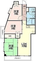 サザン稲城[2階]の間取り