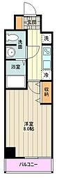 JR中央線 荻窪駅 徒歩14分の賃貸マンション 3階1Kの間取り