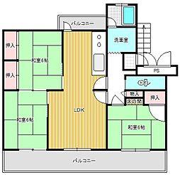 大町団地 21[5階]の間取り