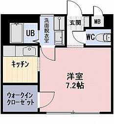 愛知県豊田市花園町の賃貸アパートの間取り