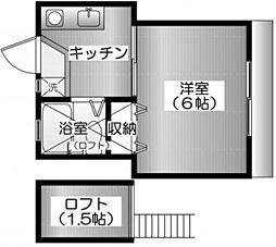 メゾンS[1階]の間取り