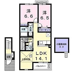ラフレシールA[2階]の間取り
