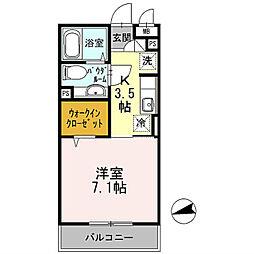 ラマージュⅤ[3階]の間取り
