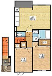 リバーサイドハウス参番館[2階]の間取り