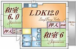 ボンネ・シャトーSHIRAKAWA[1階]の間取り