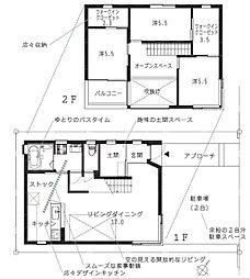 [一戸建] 福岡県福岡市中央区福浜1丁目 の賃貸【/】の間取り
