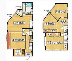 [一戸建] 福岡県福岡市東区和白1丁目 の賃貸【/】の間取り
