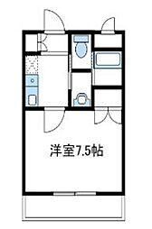 神奈川県伊勢原市上粕屋の賃貸マンションの間取り