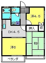 マロンハイムC[2階]の間取り