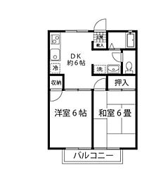 エクセルハイム[2階]の間取り