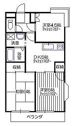 シャトレー富士[2階]の間取り