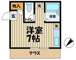 神奈川県鎌倉市岩瀬の賃貸アパートの間取り
