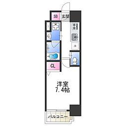 FDS PLACZ SHIN-OSAKA 3階1Kの間取り