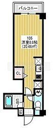 JR総武本線 船橋駅 徒歩12分の賃貸マンション 1階1Kの間取り