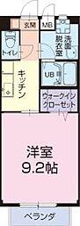 長良川鉄道 加茂野駅 徒歩27分の賃貸アパート 1階1Kの間取り