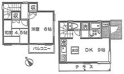[テラスハウス] 神奈川県横浜市都筑区牛久保西2丁目 の賃貸【/】の間取り