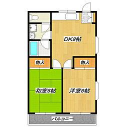 東京都江戸川区北小岩6丁目の賃貸アパートの間取り
