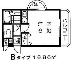 サンシティ樋井川II[301号室]の間取り