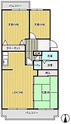 ラフィーネ草間[2階]の間取り
