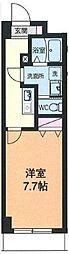 JR中央線 西国分寺駅 徒歩12分の賃貸マンション 4階1Kの間取り