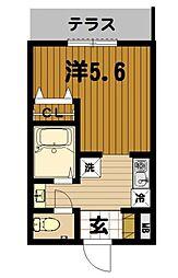 クレール六浦東[103号室]の間取り