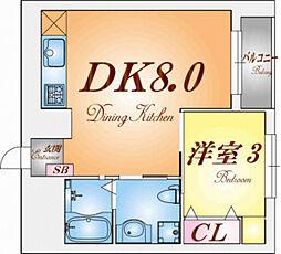 三國クリエート板宿[6階]の間取り