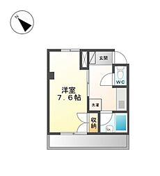 愛知県岡崎市六名南1丁目の賃貸アパートの間取り