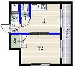 シティ別府[4階]の間取り