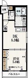 仮称)本町5丁目メゾン 2階1LDKの間取り