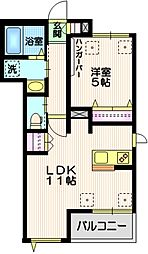 Mauna Kalae# 2階1LDKの間取り