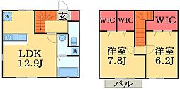 [テラスハウス] 千葉県千葉市中央区村田町 の賃貸【千葉県 / 千葉市中央区】の間取り