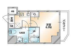 Valore Nishisugamo(ヴァローレ西巣鴨) 7階1Kの間取り