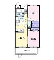 プリムローズK II[1階]の間取り