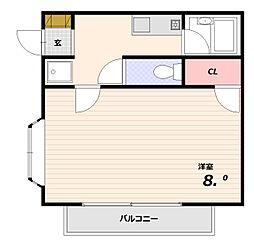 メゾンドソガワ[1階]の間取り