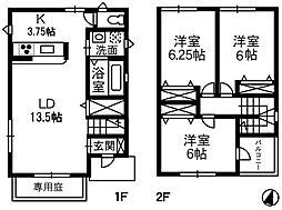 [一戸建] 岡山県倉敷市玉島3丁目 の賃貸【/】の間取り
