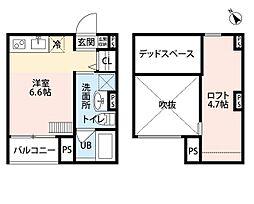 南海線 堺駅 徒歩17分の賃貸アパート 2階1Kの間取り