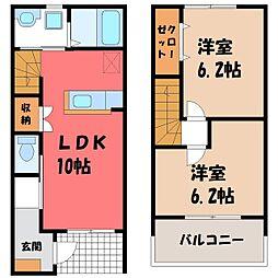 Next Stage 2階2LDKの間取り