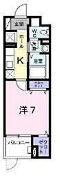 京王線 高幡不動駅 徒歩9分の賃貸マンション 3階1Kの間取り