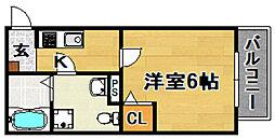 Osaka Metro今里筋線 だいどう豊里駅 徒歩7分の賃貸アパート 3階1Kの間取り
