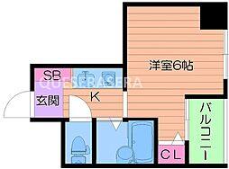 Osaka Metro谷町線 千林大宮駅 徒歩3分の賃貸マンション 10階1Kの間取り