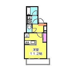 スターレジデンス大倉山[103号室]の間取り