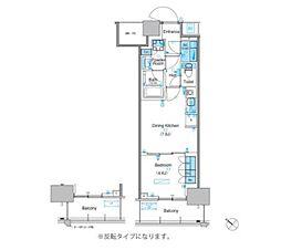 パークアクシス豊洲キャナル 14階1DKの間取り