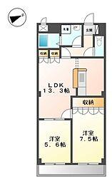 新潟県三条市新光町の賃貸マンションの間取り